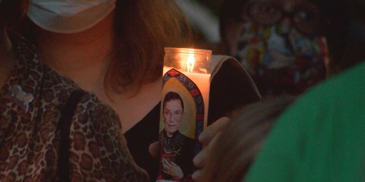 Vigil held for Ruth Bader Ginsburg in Wright Square