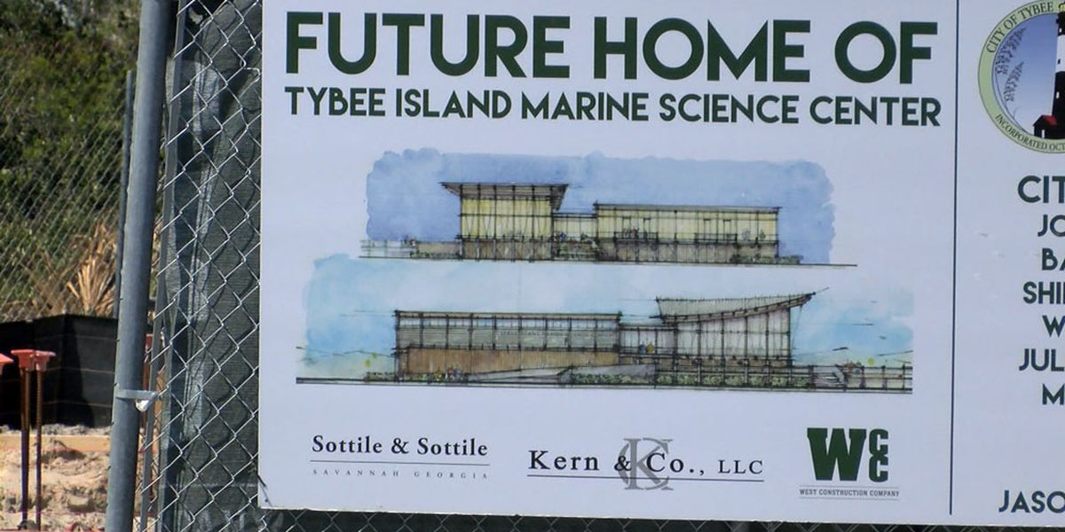 Construction moving along on new Tybee Island Marine Science Center