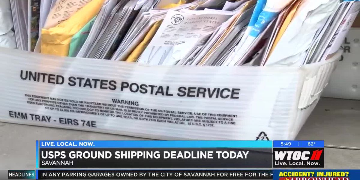 USPS ground shipping deadline is today