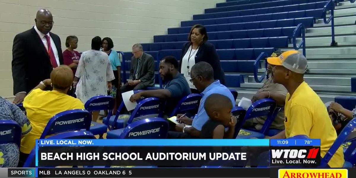 Beach High School provides update on new auditorium