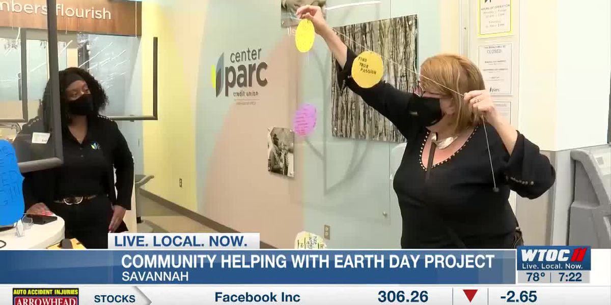 Savannah community helping with Earth Day art project