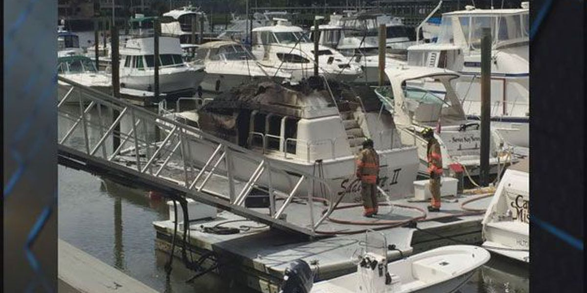 Boat catches fire in Shelter Cove Harbour