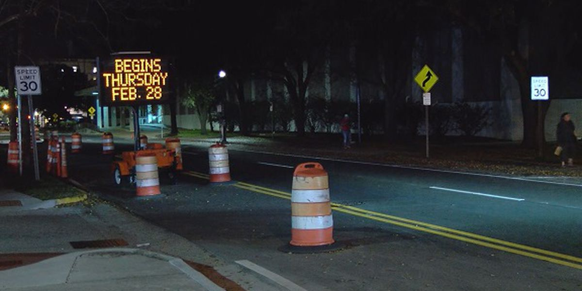 Portion of Montgomery Street being changed from one-way to two-way
