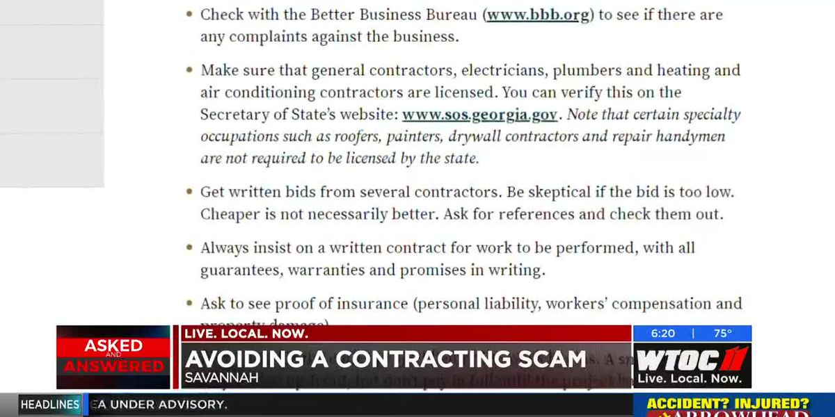 Georgia attorney general reminding you to be smart with contractors