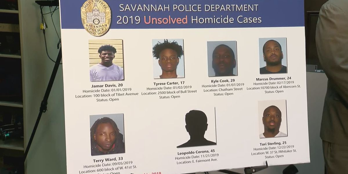Savannah Police searching for new leads in 2019 unsolved homicides
