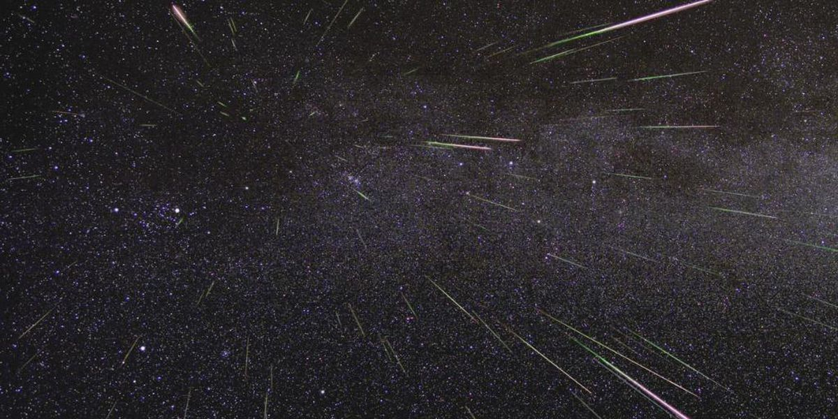 Meteor shower show in the night sky this week