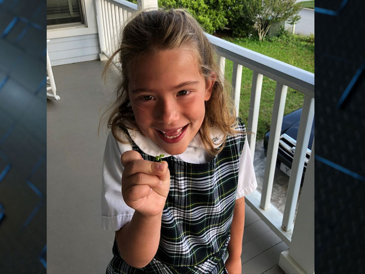 Savannah girl finds rare five-leaf clover on Tybee