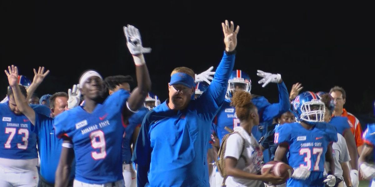Savannah State football coach Shawn Quinn notches first career win