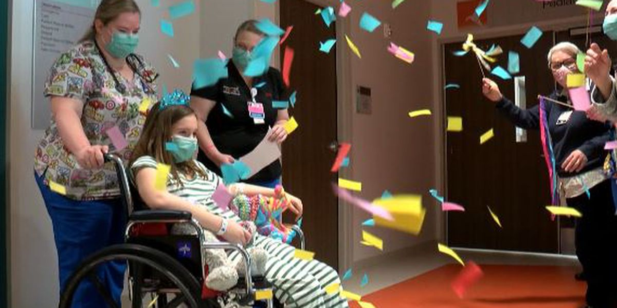 Staff welcomes first ever patients to new children's hospital with celebration