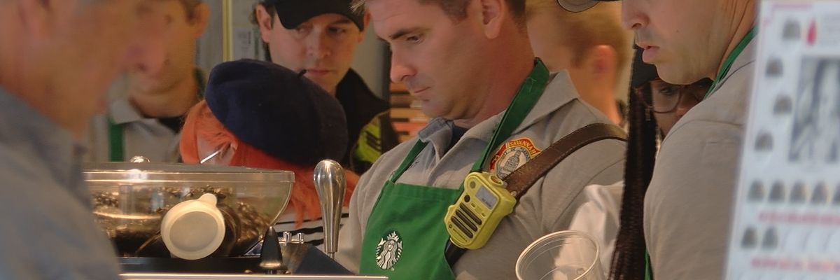 """Broughton Starbucks hosts """"Frappuccino with a Firefighter"""""""