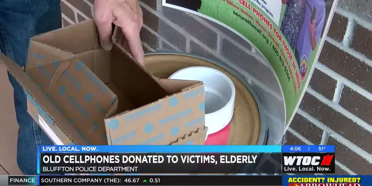 Old cellphones donated to victims, elderly