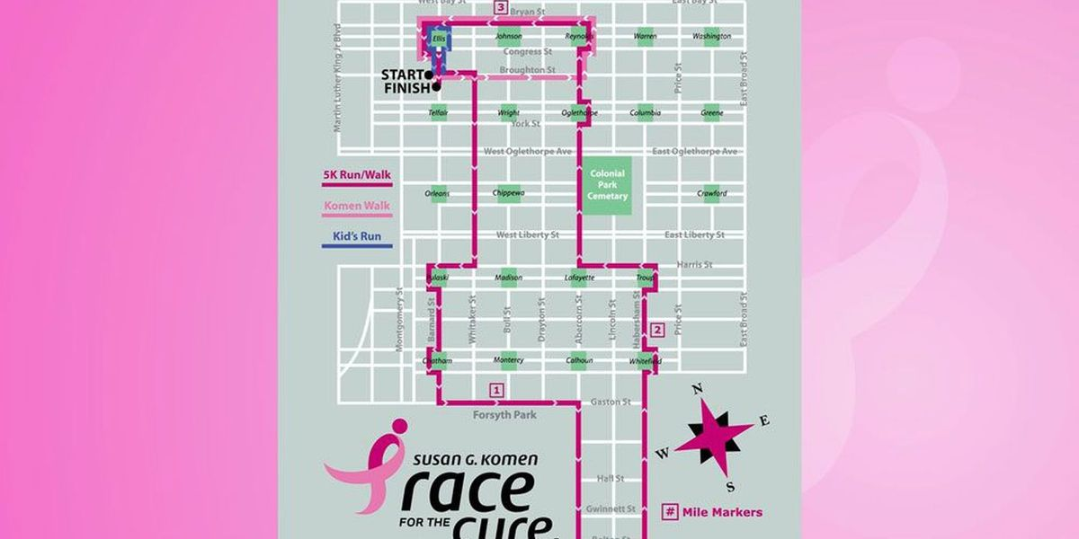 Susan G. Komen 2019 Savannah Race for the Cure set for Saturday