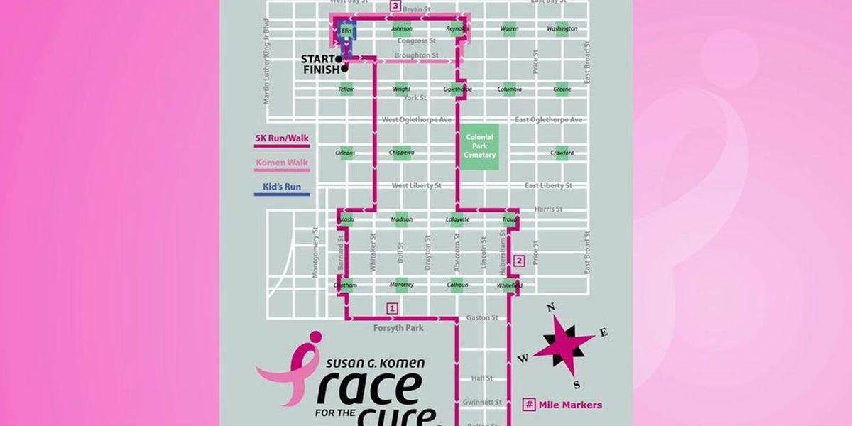 Susan G. Komen 2019 Savannah Race for the Cure set for Saturday