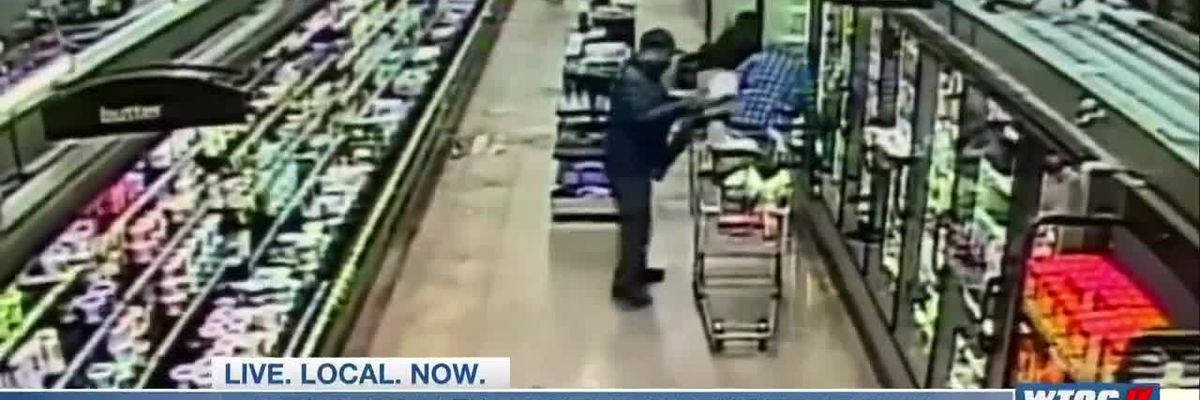 Suspects target elderly in spree of thefts at local grocery stores