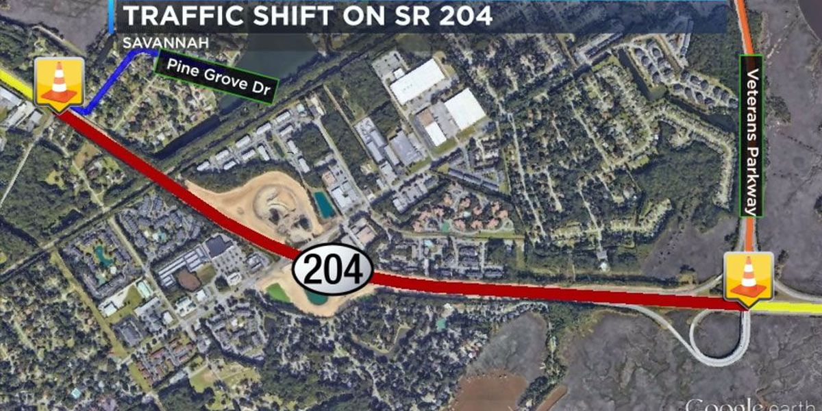 Traffic shift on SR 204 expected to cause delays