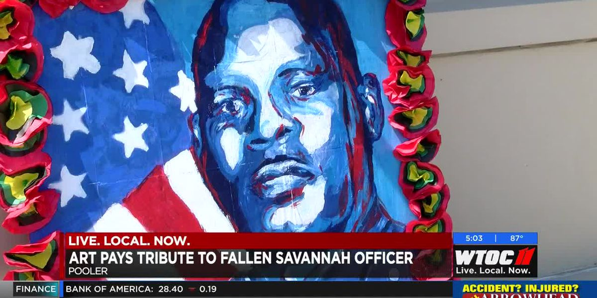 Art pays tribute to fallen Savannah officer
