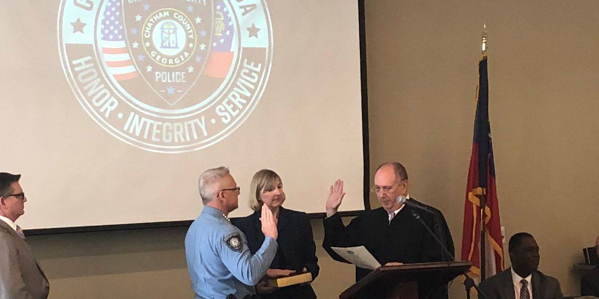 Chatham Co. Police Department chief and officers sworn in