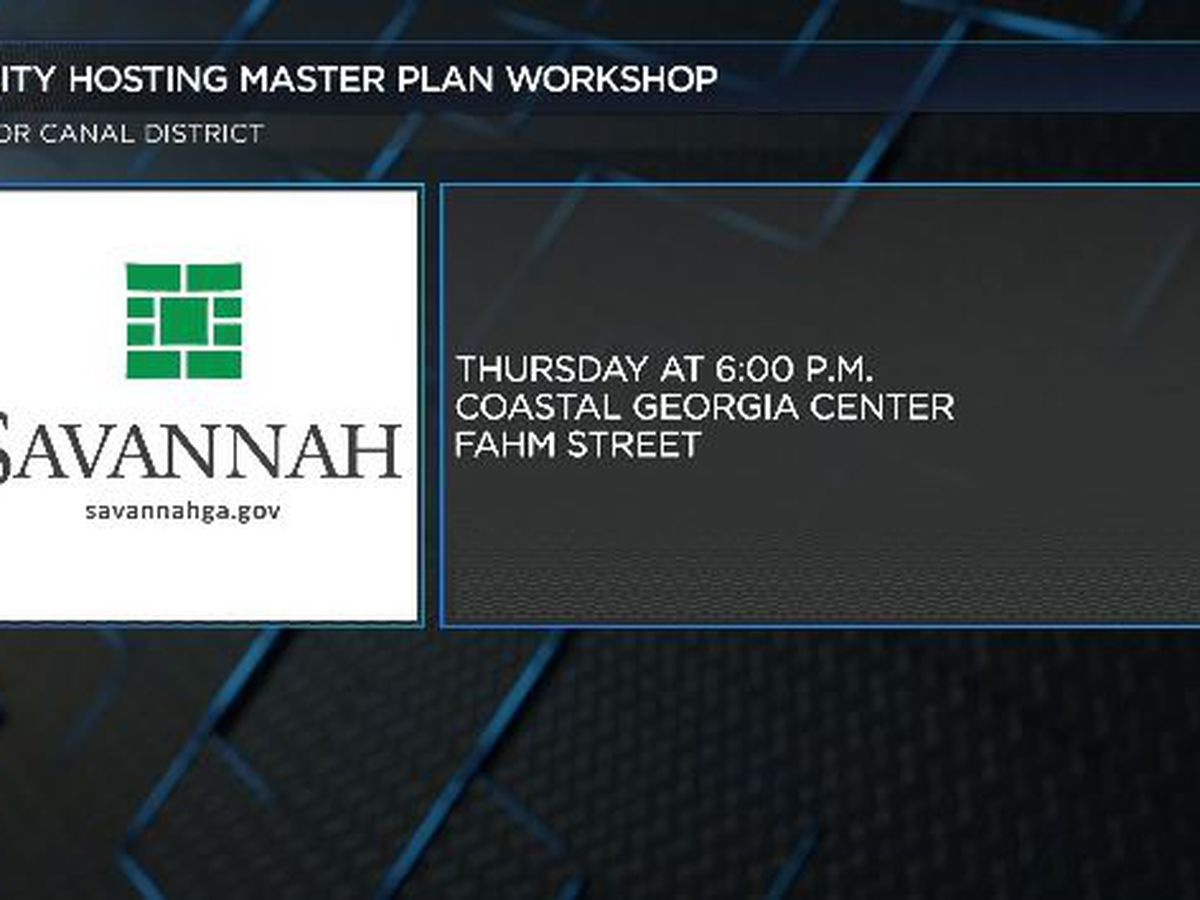 Savannah city leaders to hold community workshop for the Canal District