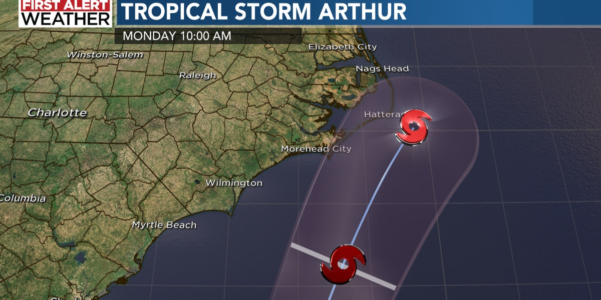 NC officials warn residents along coast to be 'cautious' of Tropical Storm Arthur