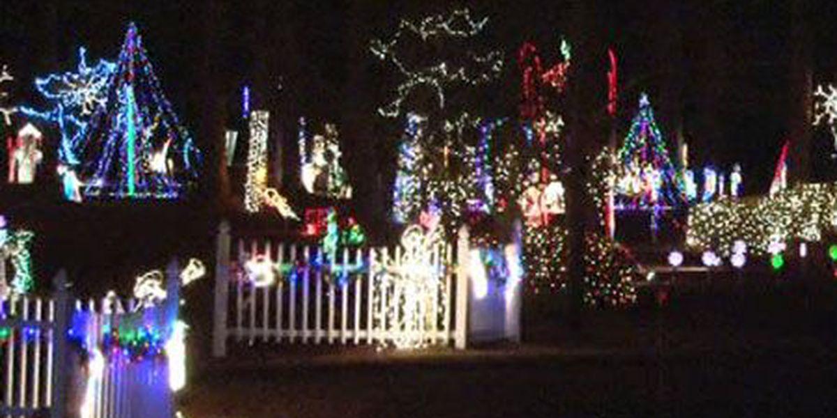 neighborhood lights keep evans county festive