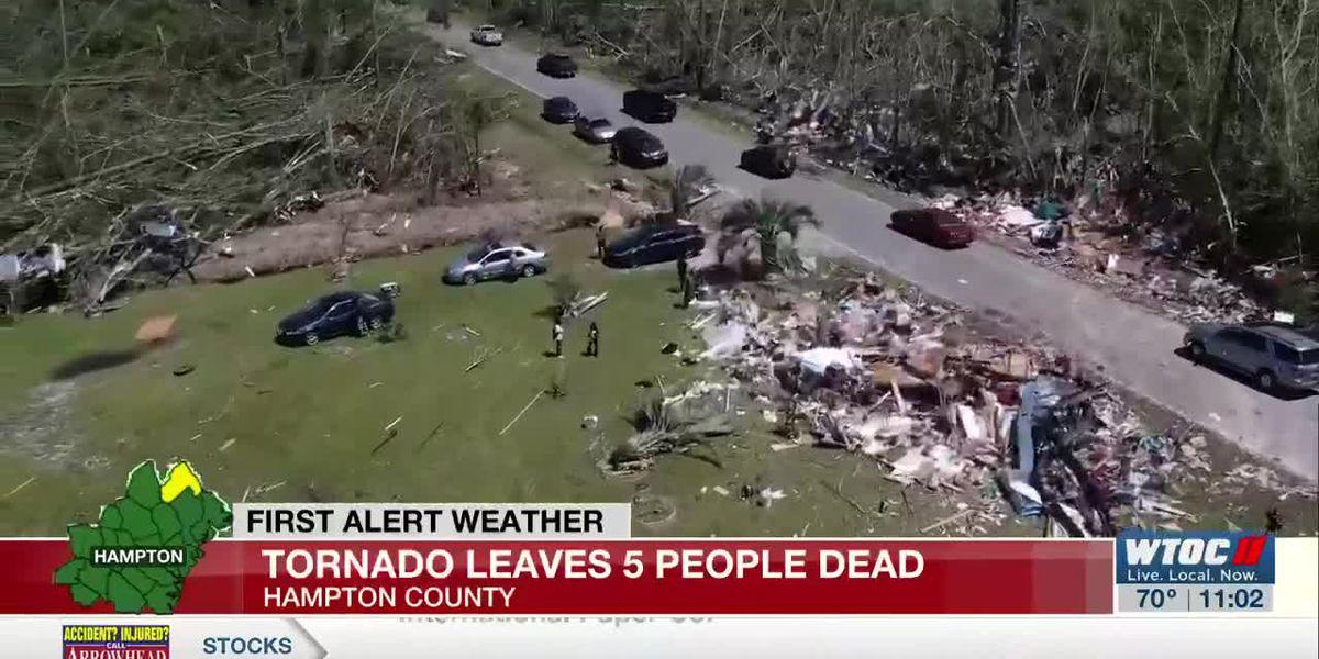 Cleanup efforts continue after Hampton Co. tornado