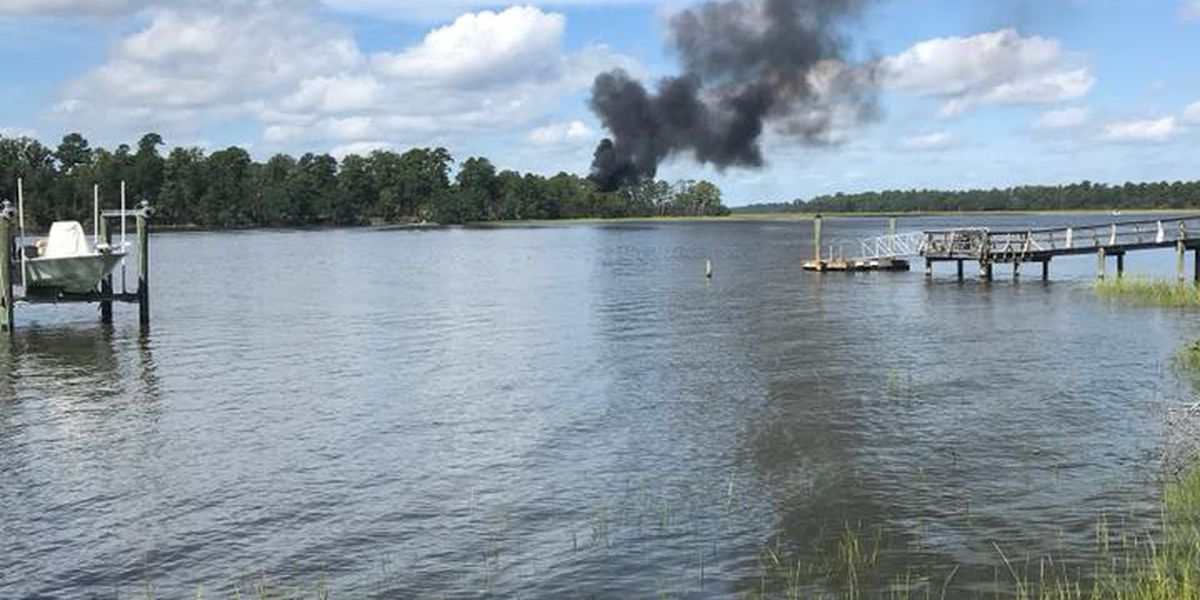 Pilot safely ejected from military plane crash outside Beaufort, SC