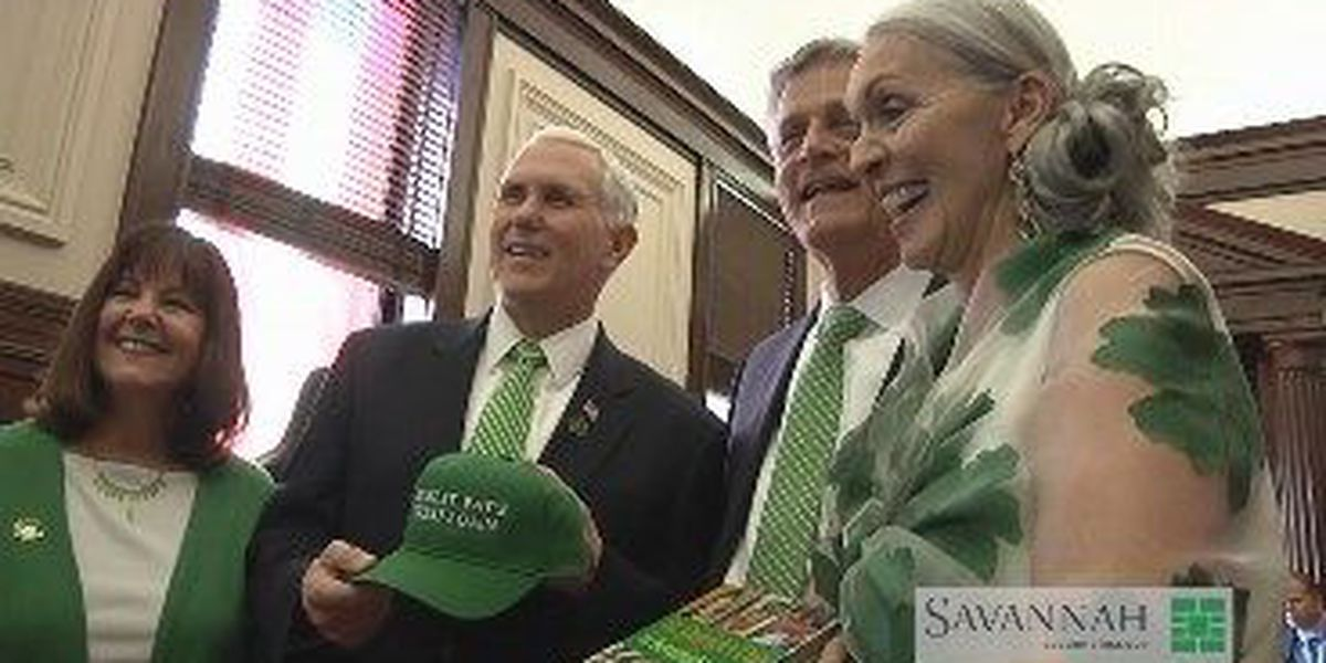 The Latest: Pence leaves St. Patrick's Day parade
