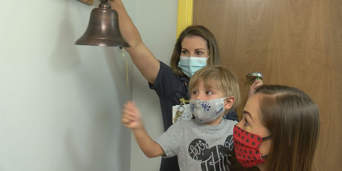 VIDEO: 4-year-old celebrates finishing chemo treatments