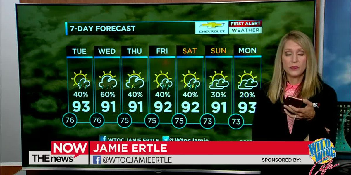 Jamie Ertle's tracking the tropics. Watch The News Now for your latest First Alert Forecast.