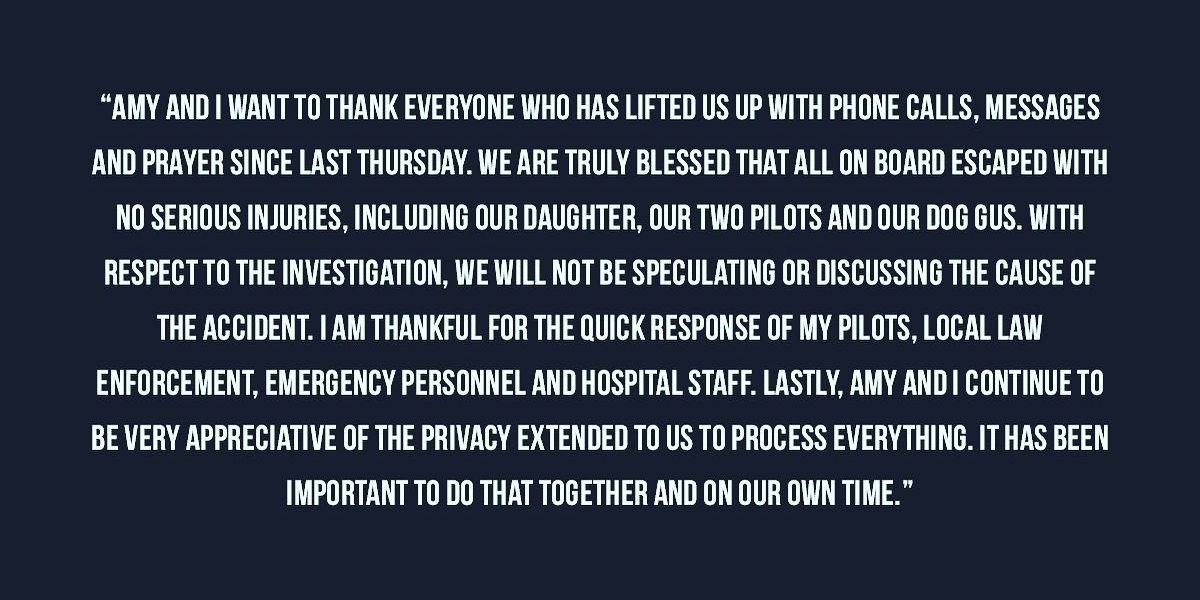 Dale Earnhardt Jr. releases statement after family survives plane crash