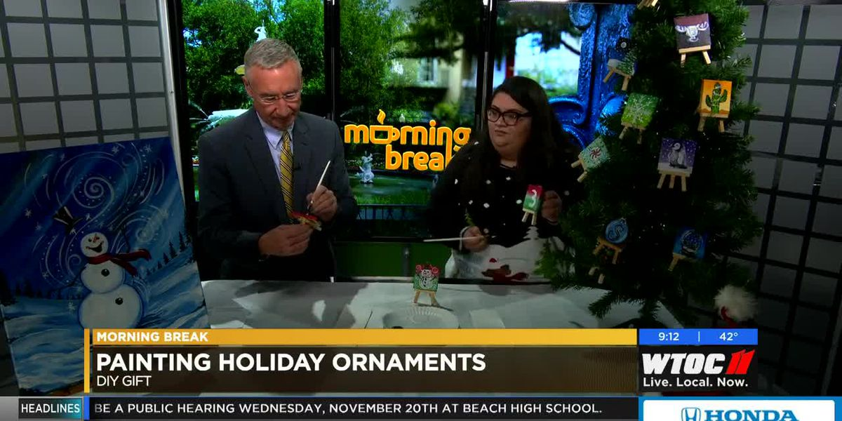Painting with a Twist: Painting holiday ornaments