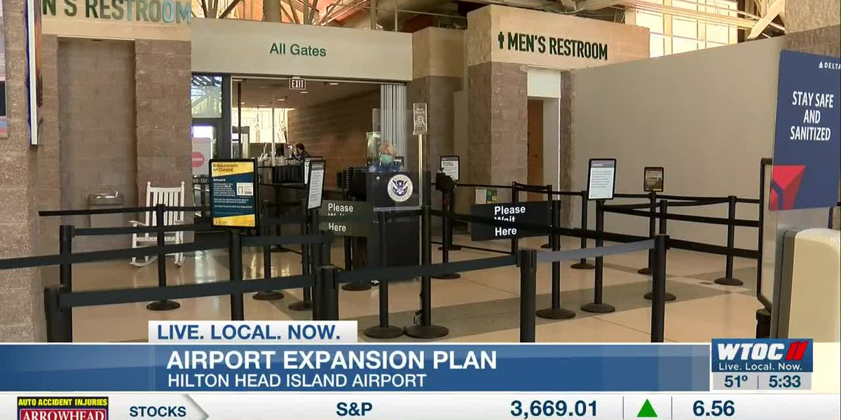 Expansion could double the size of the Hilton Head airport