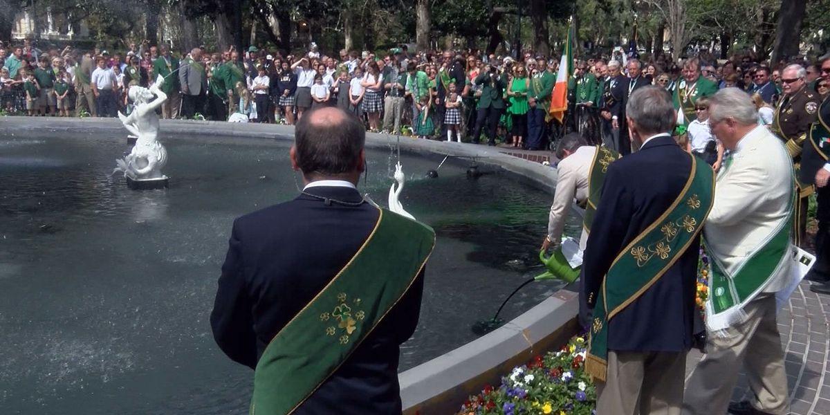'Greening of the Fountain' kicks off St. Patrick's festivities in Savannah