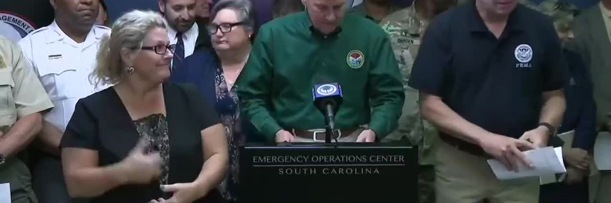 RAW VIDEO: Gov. McMaster lifts mandatory evacuation order for 3 of 8 SC counties