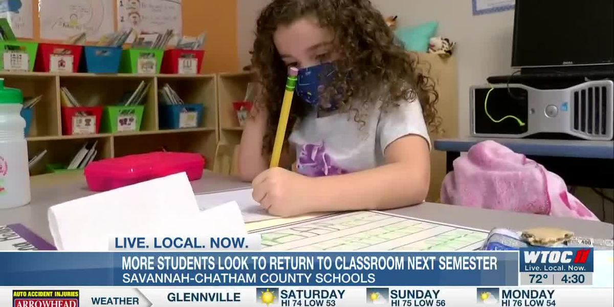 More SCCPSS students look to return to the classroom next semester