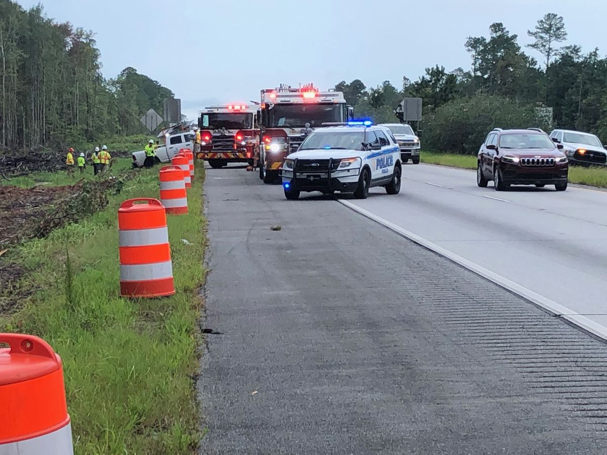 I-16 back open after three-car crash between Pooler Parkway and I-95