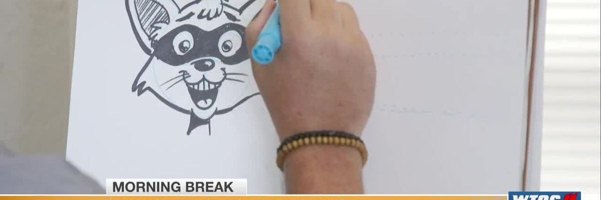 Learn to draw a raccoon