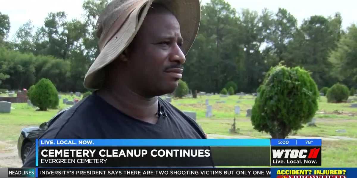 Cleanup efforts continue at Evergreen Cemetery