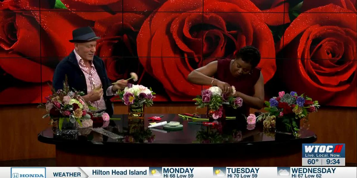Make your own Valentine's Day floral arrangement