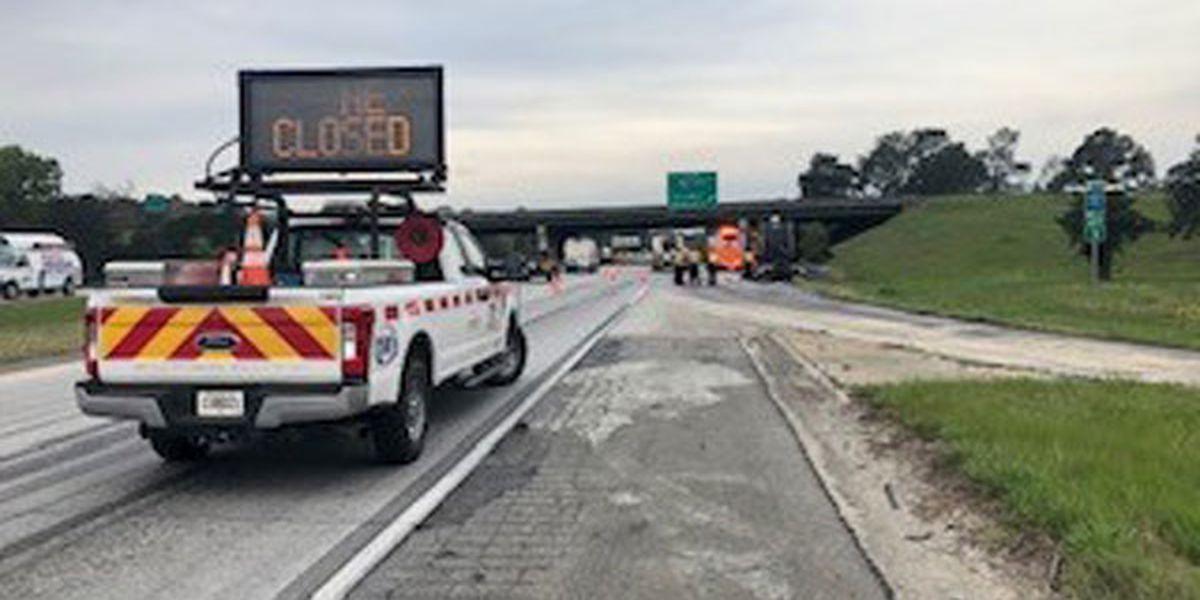 Fuel spill slows morning traffic on I-16 at I-95