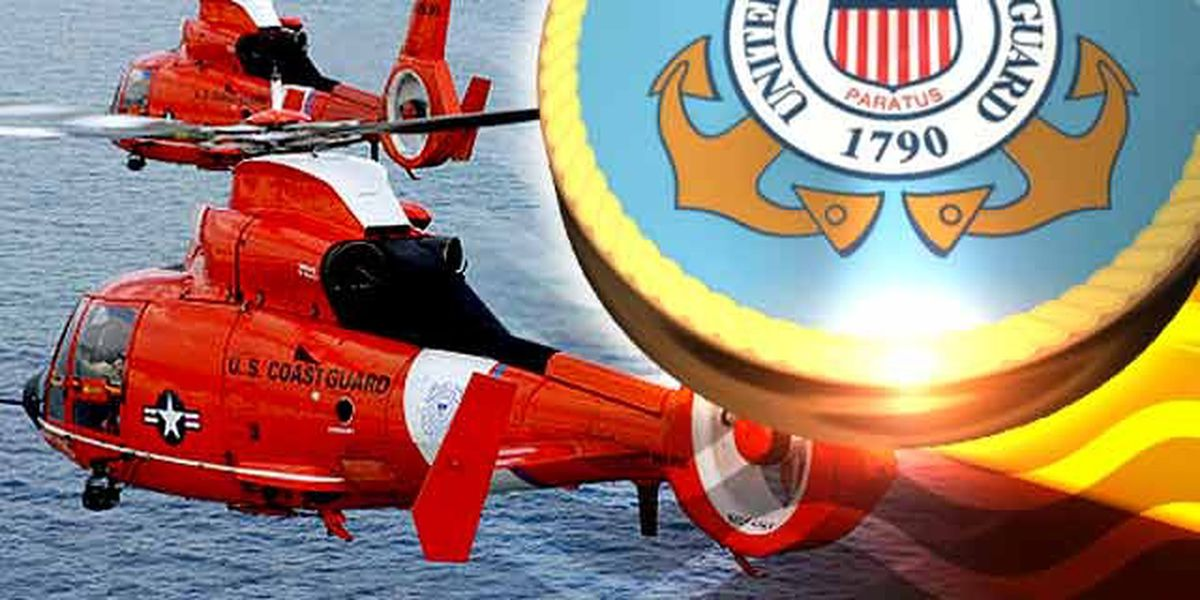 Coast Guard helicopter rescues 4 from St. Catherine's Sound