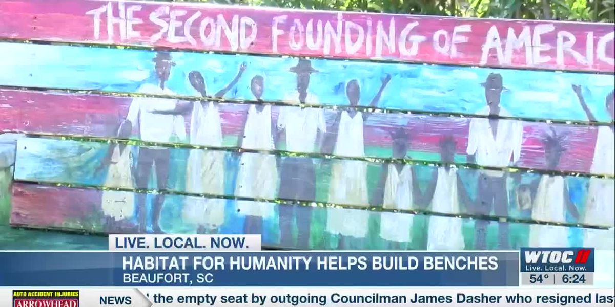 Habitat for Humanity helps build benches to celebrate Beaufort's history