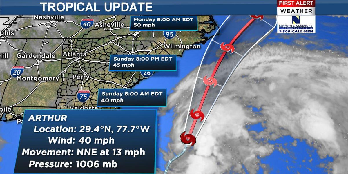 Tropical Storm Arthur develops off of Florida's coast