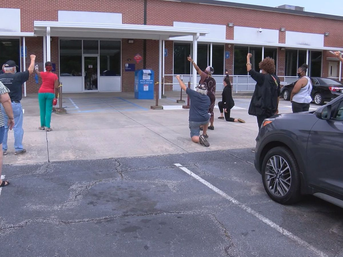 Protest held over Chatham County absentee ballot count