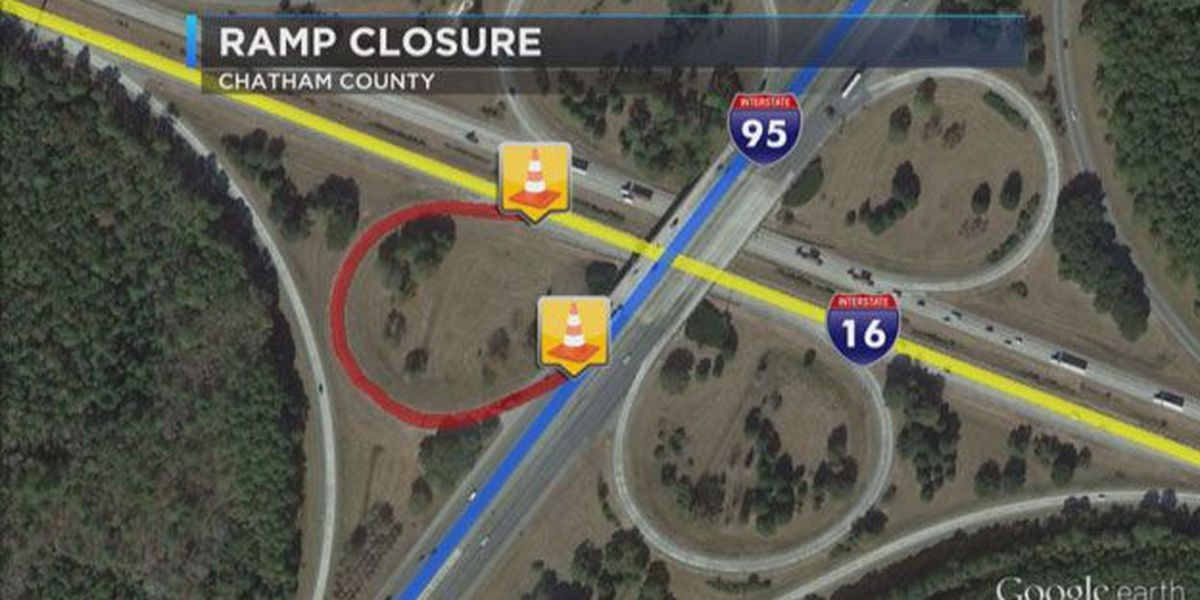 I-95 NB and I-16 EB ramp closure to begin Friday night