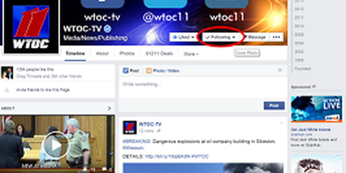 Facebook Update: How to Prioritize WTOC-TV on Your Newsfeed