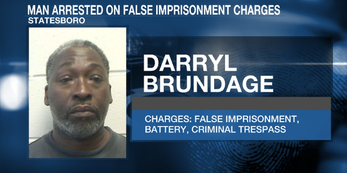 Statesboro man arrested on false imprisonment charges