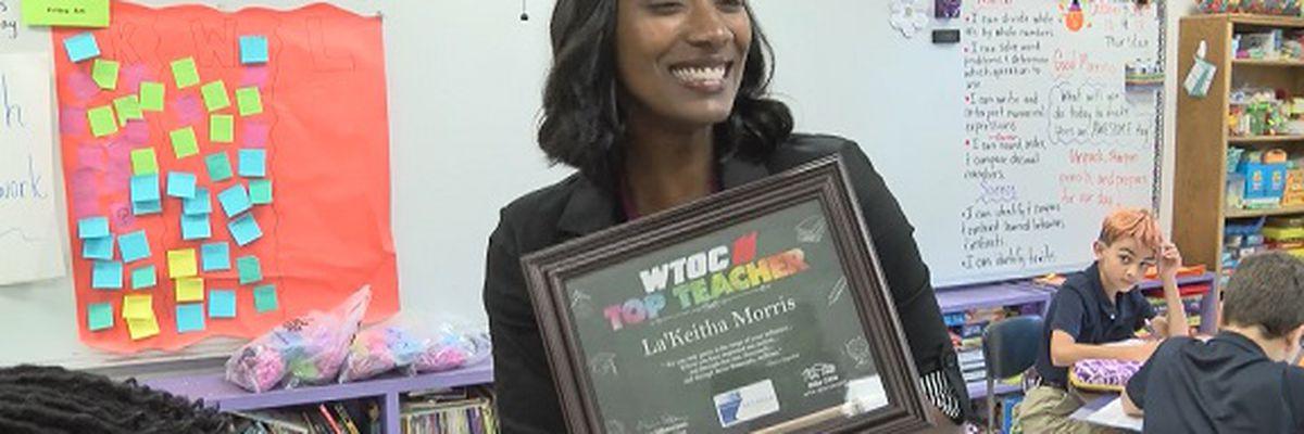 Top Teacher: La'Keitha Morris, West Chatham Elementary School