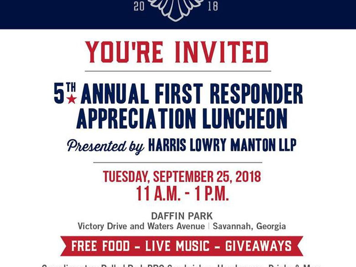 Local law firm hosts first responder luncheon