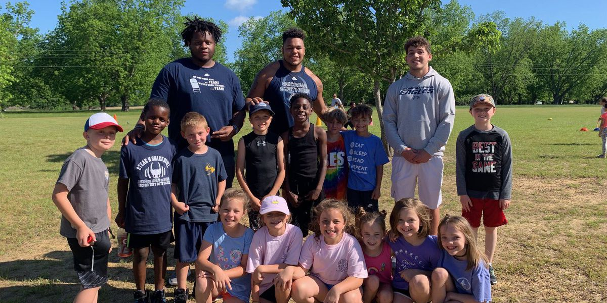 Eagle football team doing right with community service